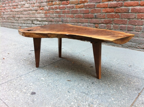 20140819_222844076_iOS.jpg - SOLD - Beautiful And Unique Live Edge Black Walnut Coffee Table