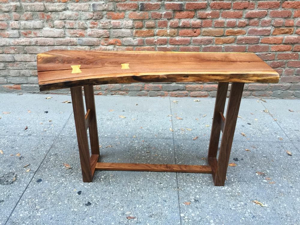Live Edge Walnut Console