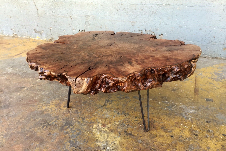 Sold Beautiful Rare Walnut Burl Live Edge Coffee Table