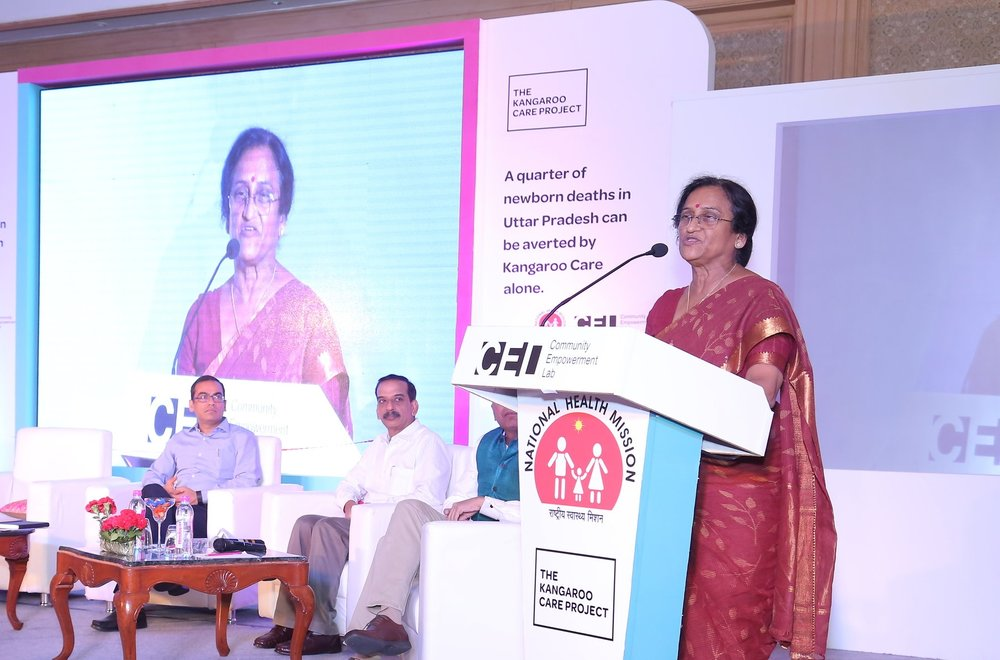 Inauguration of Kangaroo Care Lounges at 25 District Women's Hospitals across UP by Hon'ble Minister for Family Welfare and Women and Child Development, Dr. Rita B Joshi on 6th June, 2017.A glimpse of the event.
