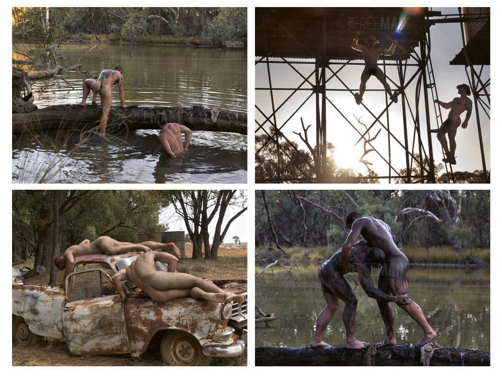 Four photographs from one of the shooting trips made for Larrikin