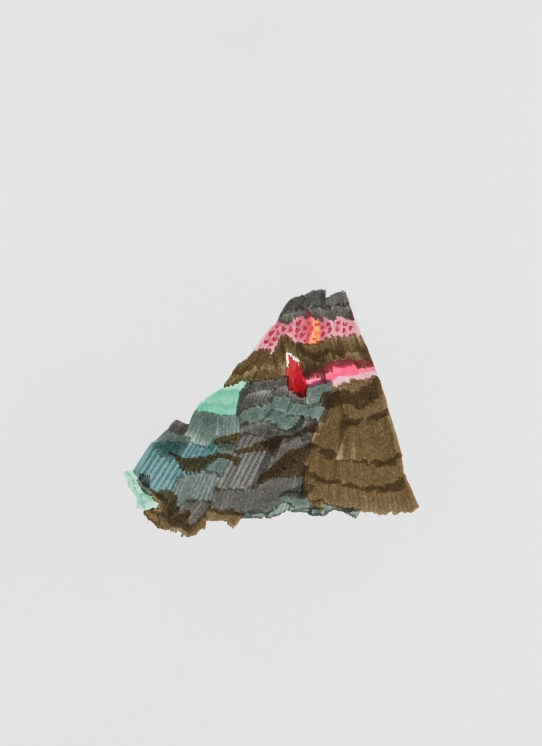 Petit volcan, dessin aux feutres, 2013