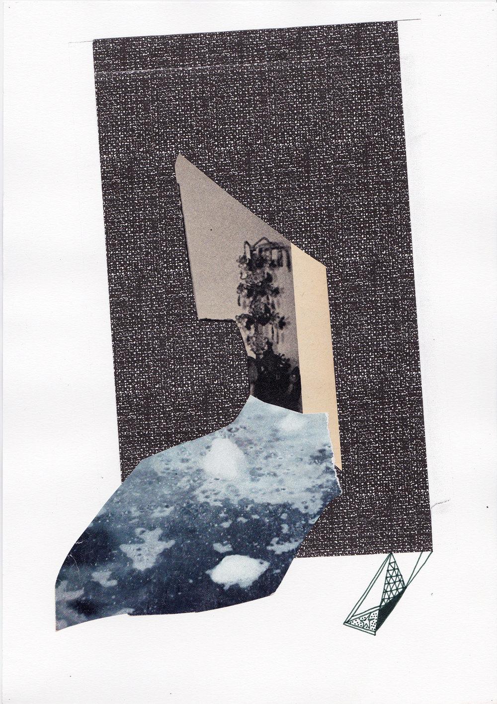 Marée, collage, 2013