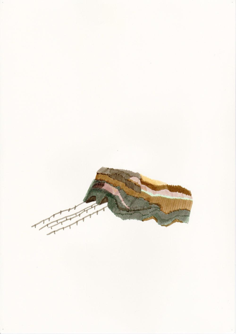 Tunnels, dessin aux feutres, 2013
