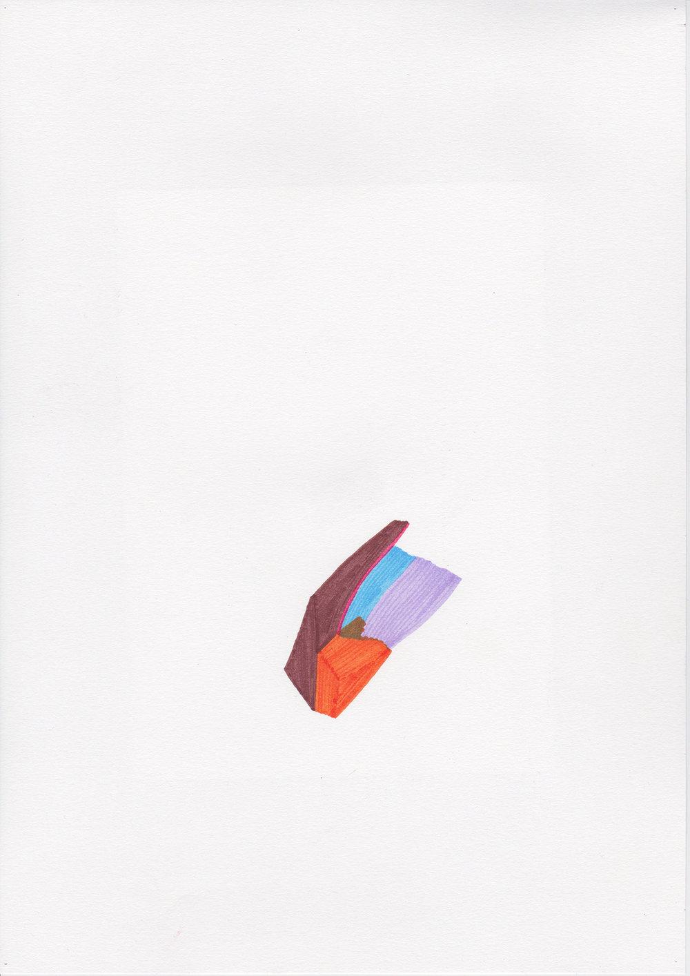 Drop, dessin aux feutres, 2013