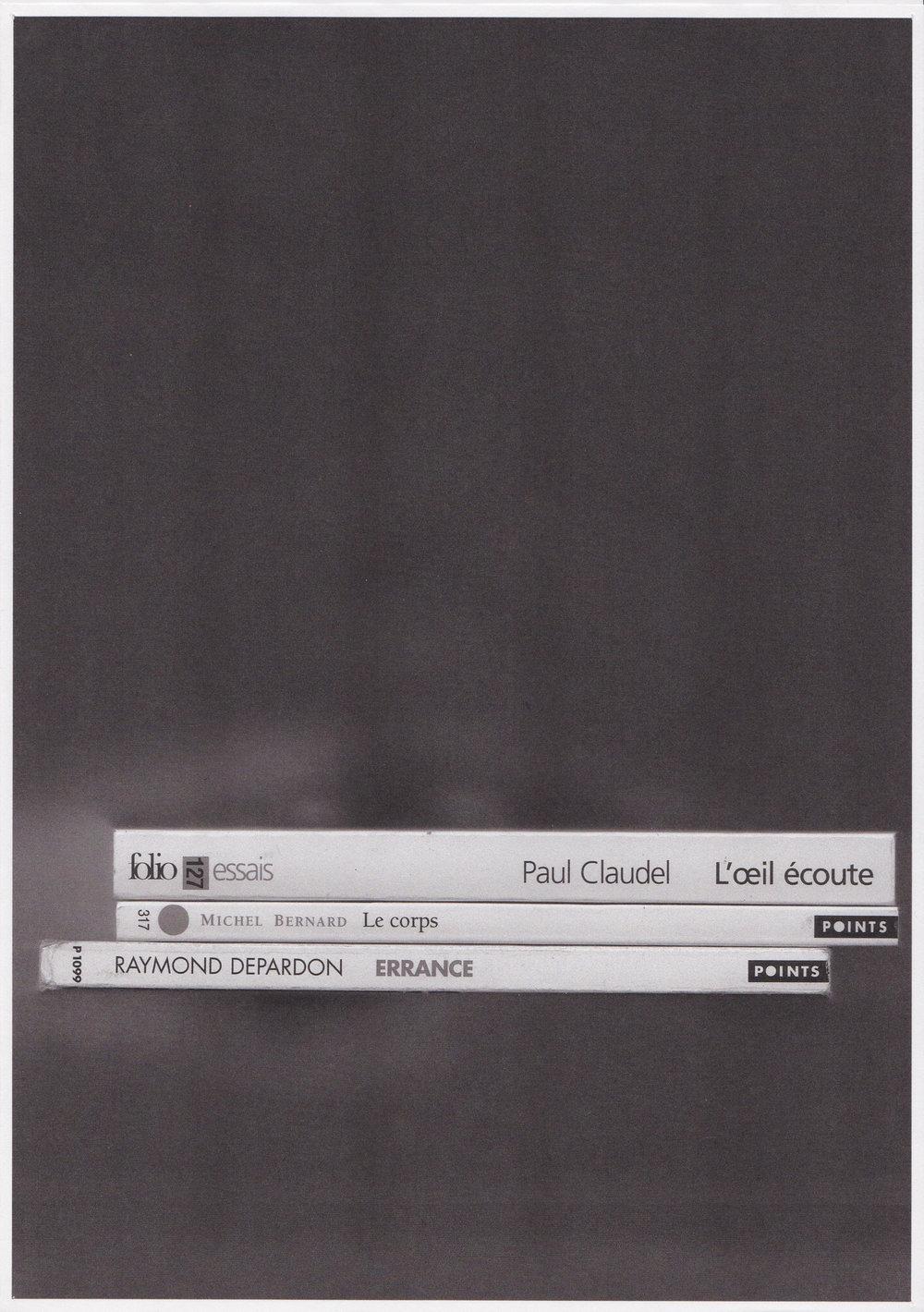 L'oeil écoute le corps, errance, photocopie, 2013