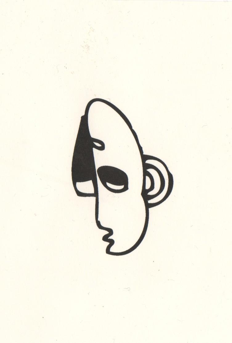 Tête, dessin au doigt sur tablette, 2013