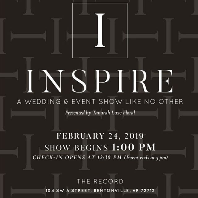 We can't wait to team up with some of the best of the best vendors in NWA for the @inspireweddingshow 🤩 you won't want to miss our tasty lineup!  https://centralarkansastickets.com/events/INSPIREWEDDINGSHOWNWA  @tsglittlerock @belleandblush @belleandblush_beauty_bar @robersonsfinejewelry @tanarahluxefloral @unveiledlittlerock @hankseventrentals @byinvitationonlylr @joelshairsalon @mickeyscakesandsweets @barbarajeaninsider @capers_catering @patticakesar @oberkrombarbershoppe @dillards @bellabridesmaids @bellavitajewelry @chenalcc @weddingsinar @rustytractorvineyard @heritagecateringar @premier_lr @shesaidyes_intheheights @apmonograms @cwpproductions @catheadsdiner @bbjlinen @balletarkansas @ arkansascircusarts  @joonbridal @cateringunlimitednwa @shesaidyesbridal @tanarahluxefloral @tesori_bridal_formal @amandareedweddings @weddingsinar @tsgnwarkansas @shindigpaperie @robersonsfinejewelry @premier_lr @dillards @glolimitednwa @recorddowntown @heritagecateringar @unveiledlittlerock @ricksbakeryweddings @eventgroupcatering @cwpproductions @shelbylynnscake @byrequestnwa @citiscapesmagazine @eventurespartyrentals @pheonixsews @romancediamond