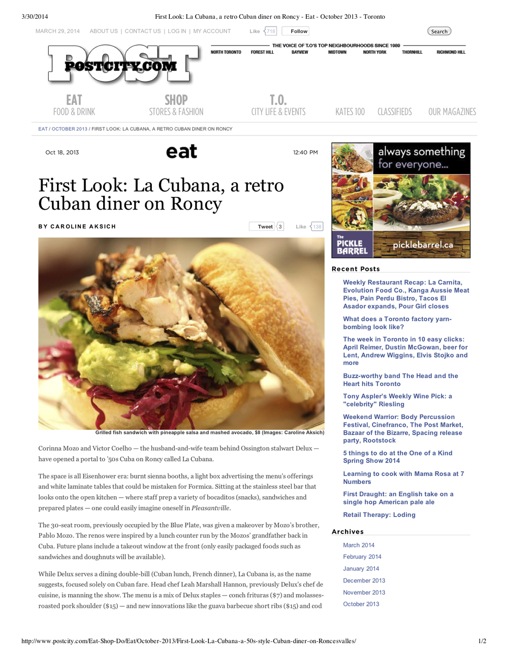 "Preview of ""First Look- La Cubana, a... October 2013 - Toronto"".jpg"
