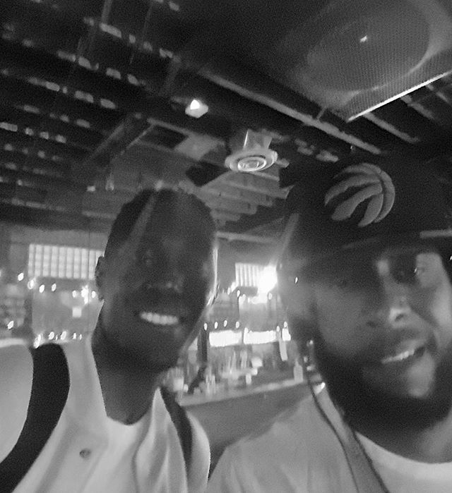 "#TBT two weeks ago when I was kicking it in the booth with one-half of #Black Star (@talibkweli) trying hard not to be ""that fan"" and lose my mind..."