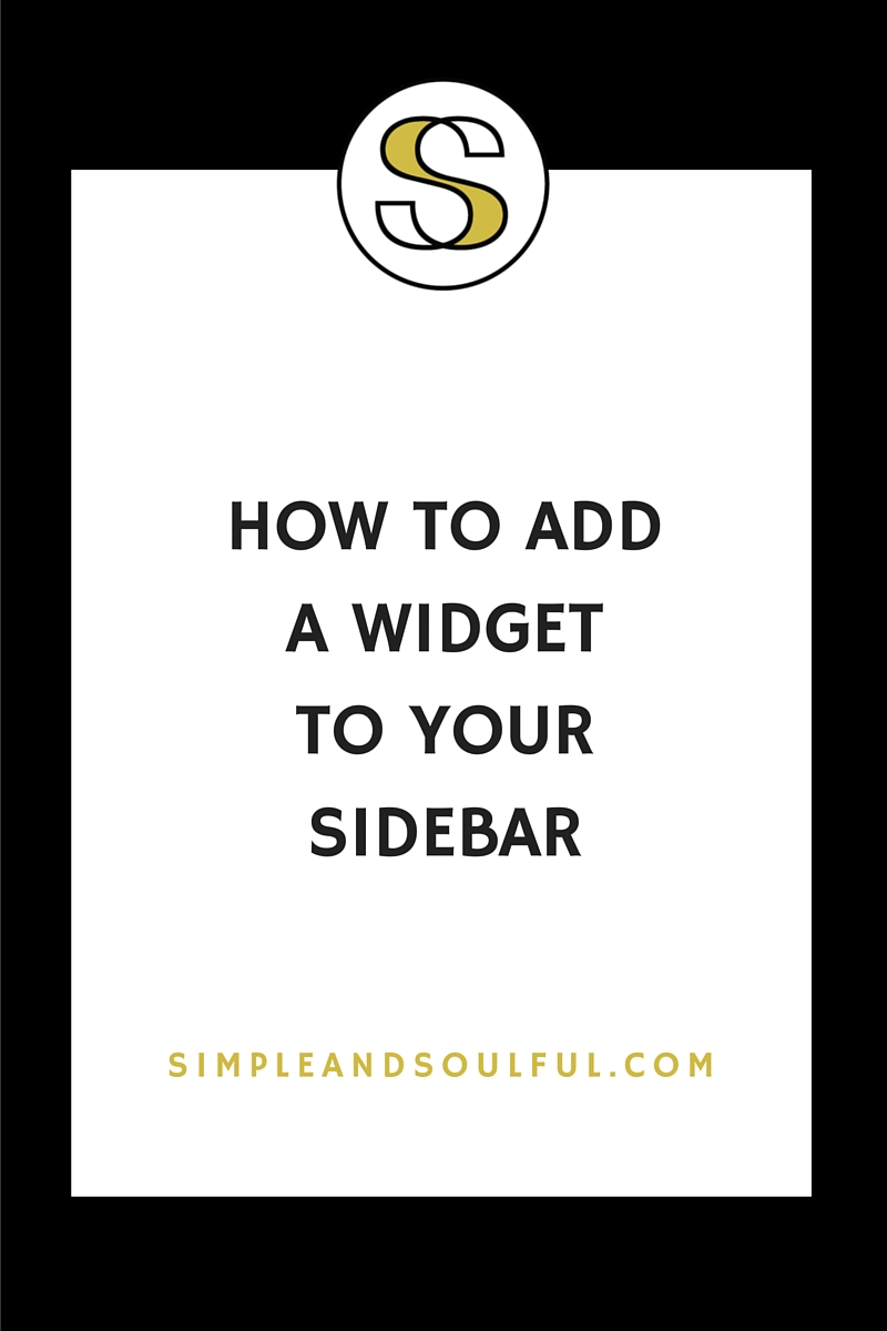 how to add a widget to your sidebar
