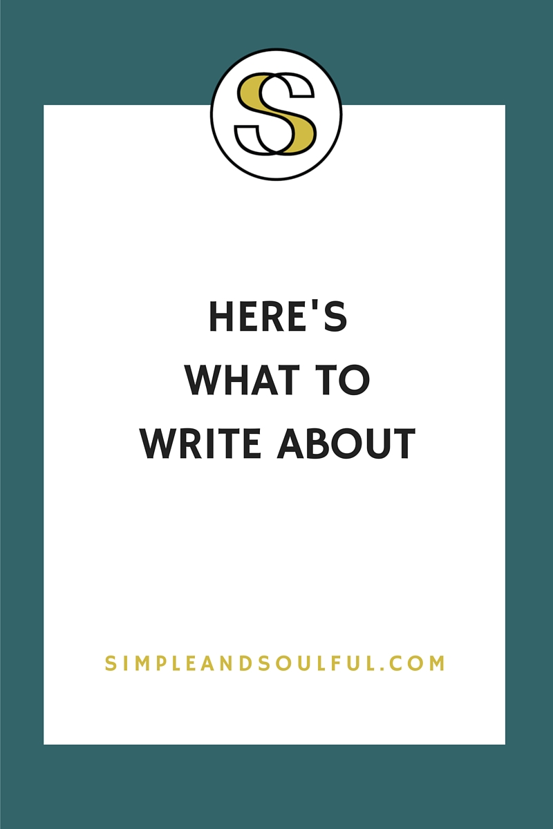 what to write about on your blog