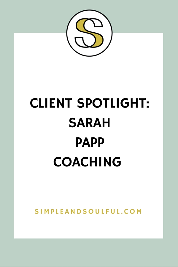 portland life coach sarah papp at simple and soulful creative