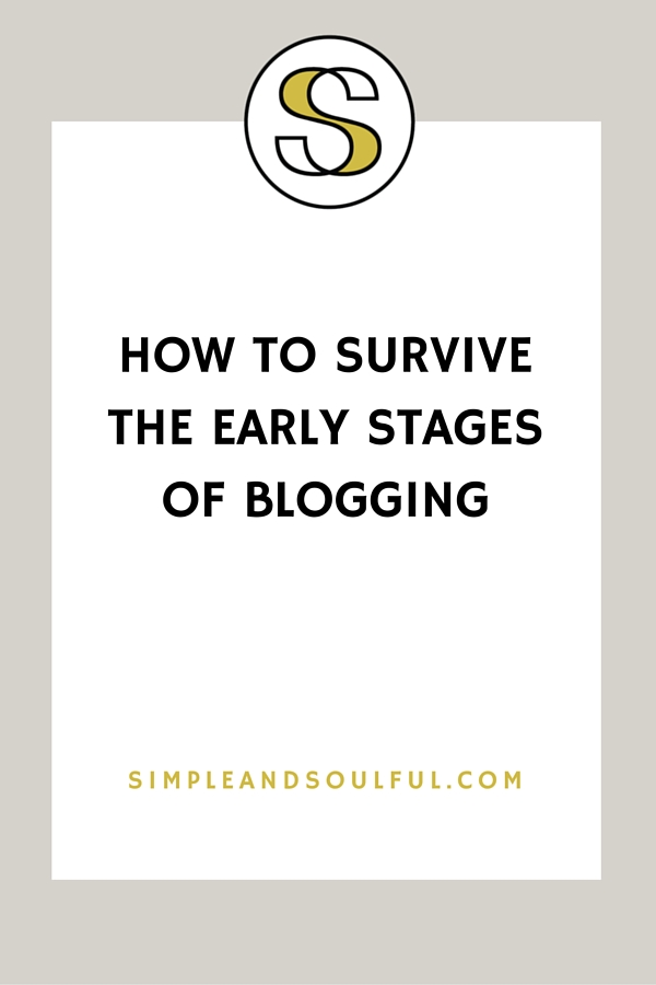 getting through the early stages of blogging