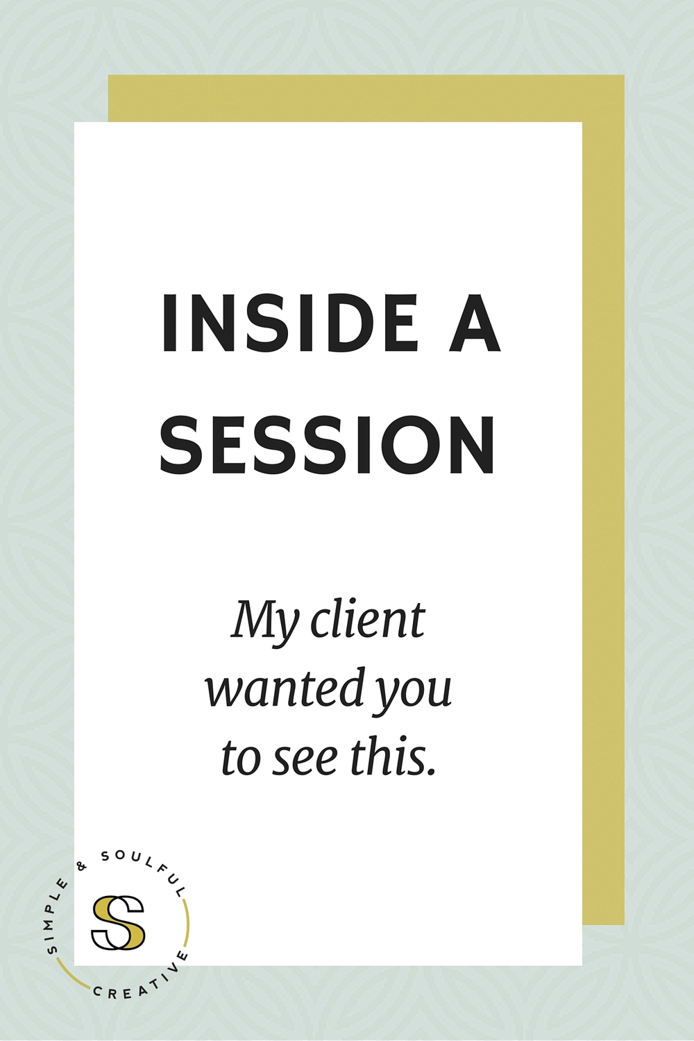 behind the scenes of a simple & soulful consulting session. what my client wanted you to see.