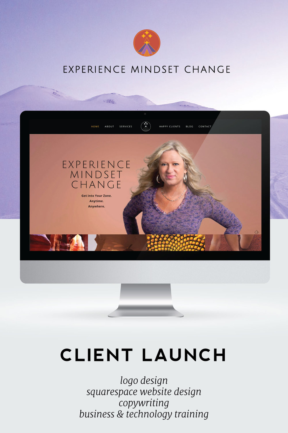 Squarespace client launch story for Donnamarie Jurick of Experience Mindset Change.