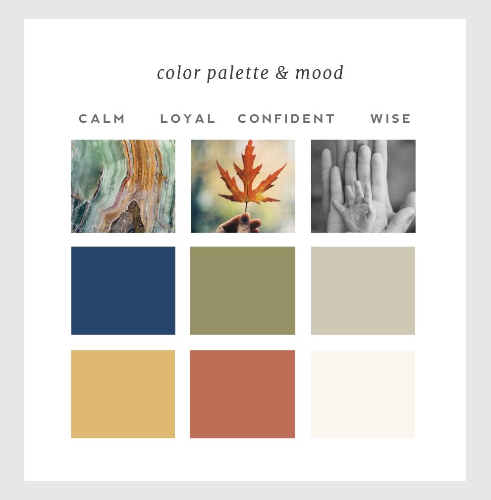Color & mood for Lana Wickstrom branding.