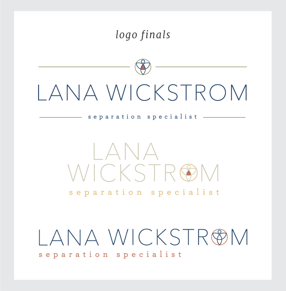 Final logo designs for Lana Wickstrom. By Simple & Soulful Creative.