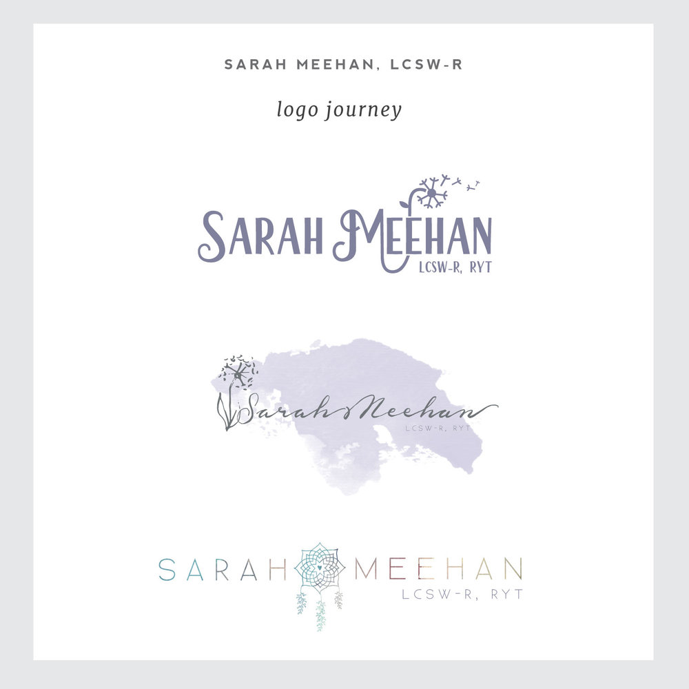 Logos for Simple & Soulful Creative client Sarah Meehan, LCSW-R.