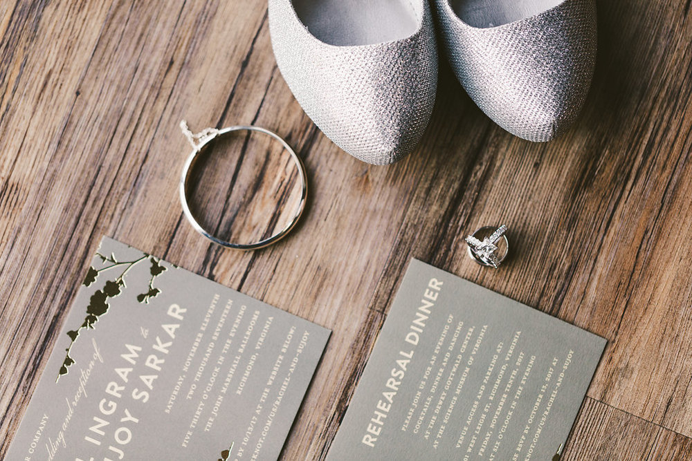Some much white gold, grey, and silver these invitations were super rad. Also I think I am going to start carrying candy for kids, this mom knew exactly what to do to get her child to sit still for hair and makeup/