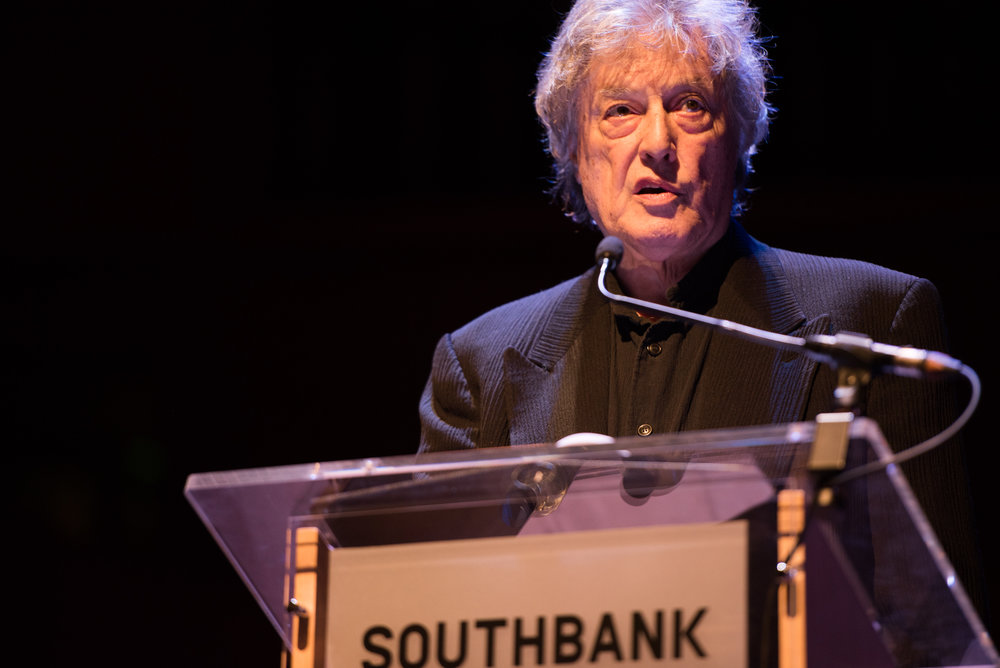 If This is a Man at Southbank Centre's Royal Festival Hall. Tom Stoppard. Photograph © Alice Boagey