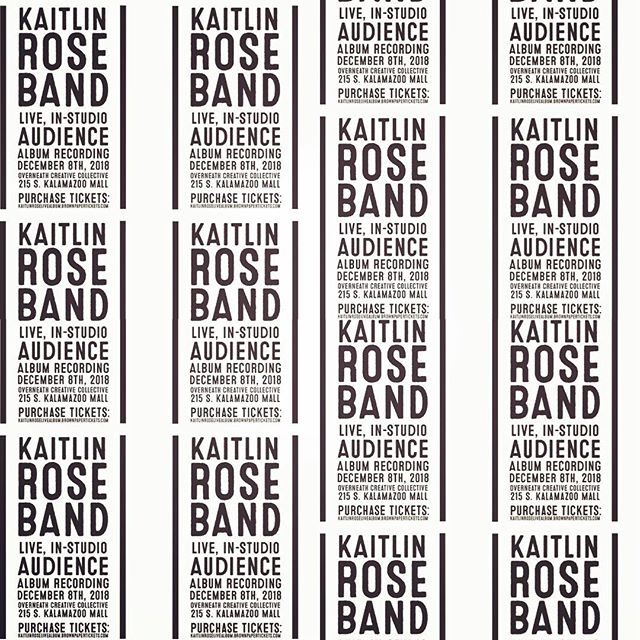 Handbill. @kaitlinrosemusic @overneath_sounds #kalamazoo #localmusic #design #kaitlinrosemusic #peace #love #flowers