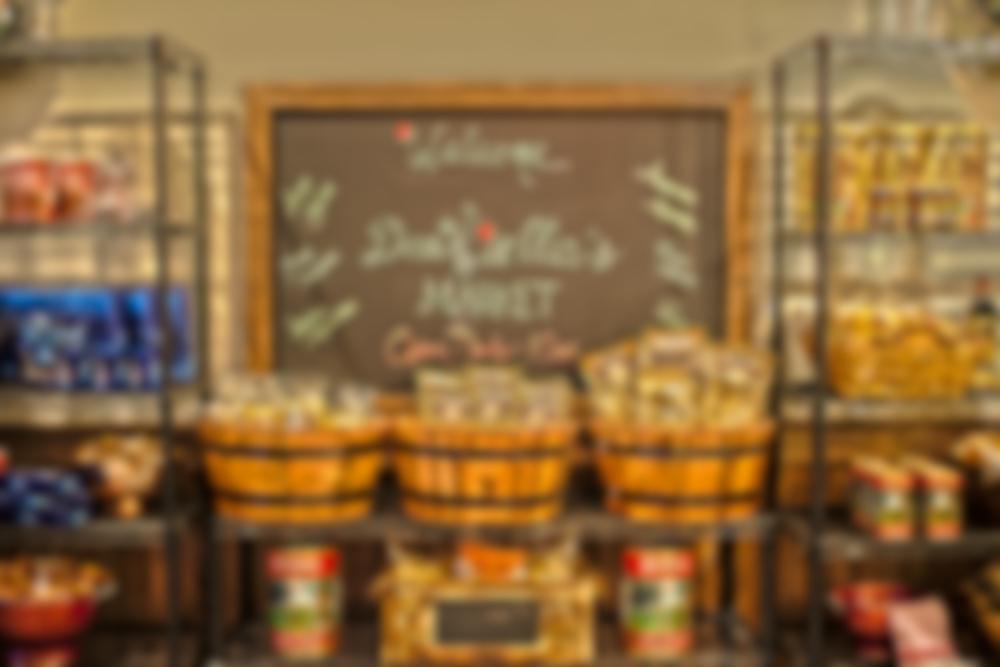market sign -blur