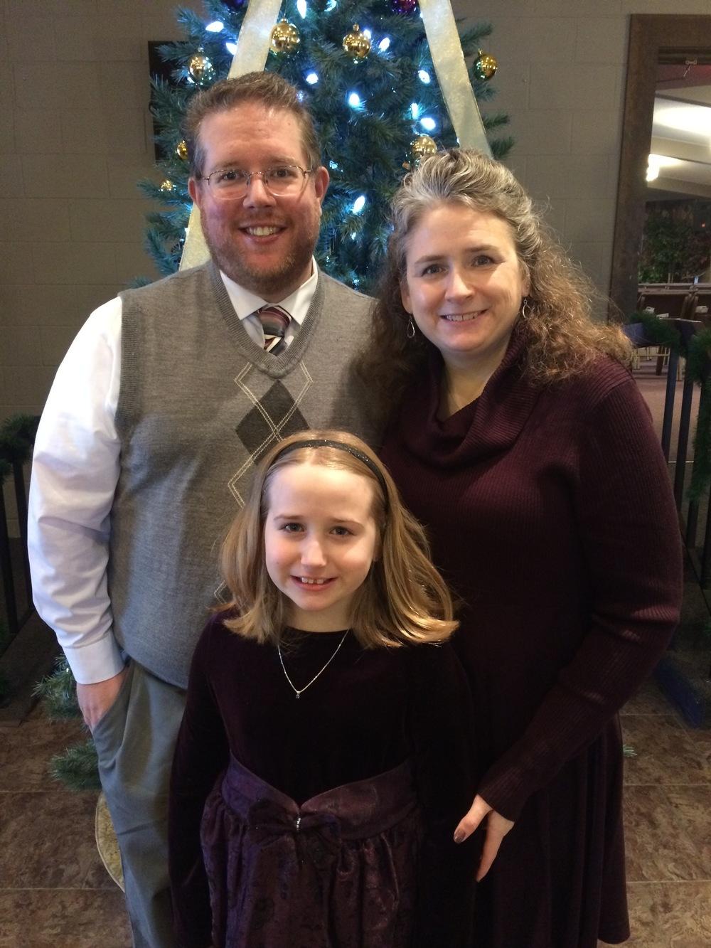 Pastor Erik, Pam, and Riley Boulier