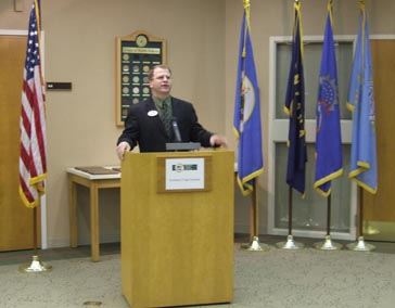 NCI Director Brian Sorenson welcomes the guests.