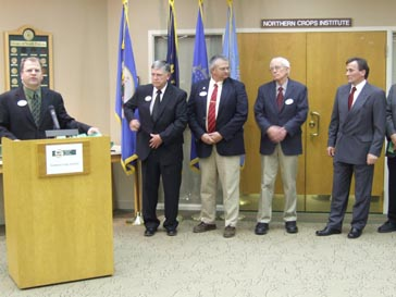 Sorenson introduces the regional commodity representatives and others who generously donated to the mill project.