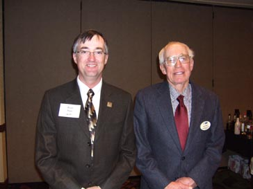 Brian Kaae, former NCC Chair and 8-year member, with Arlo Skari, who is presently on the NCC representing the Montana Wheat and Barley Committee.