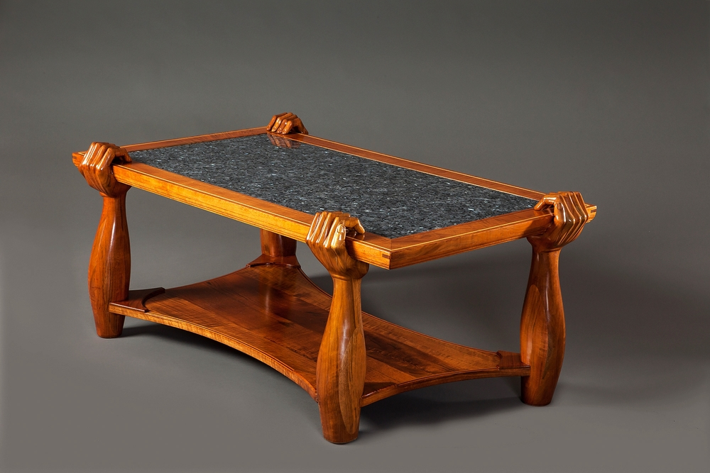 BisonHeart woodworking coffe table