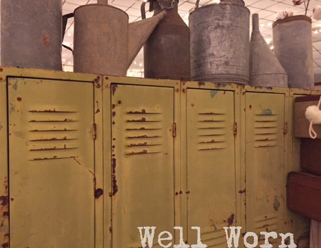 Everybody needs some metal in their life #goathillfair #lockers #galvanized #metal @goathillfair