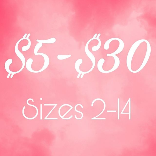 ALL 2-14 STOCK has been marked way down! Come shop and save! Huge selection to choose from for boys and girls!