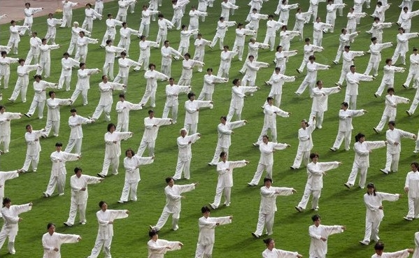 Qi Gong can be seen in every public park, every morning across China