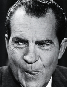 Nixon after a TV speech to the nation saying we were not bombing Cambodia.