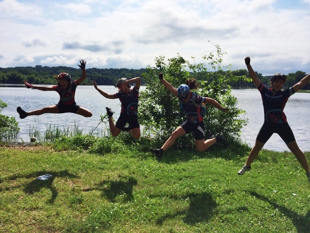 Jumping pic, duh! I'm a natural ninja!