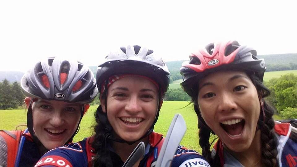 Rainy day selfie of the harmonizing riders