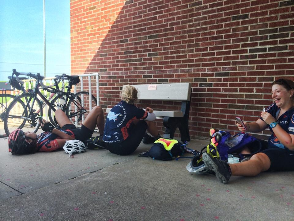 A typical break on our ride