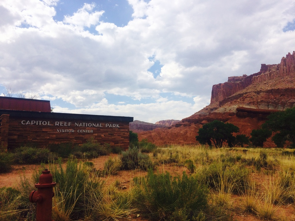 The awesome and popular visitor center at Capitol Reef National Park!