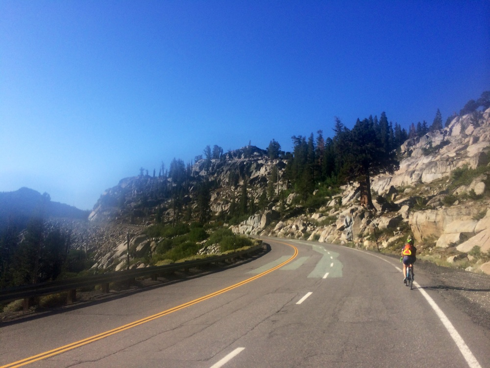 Our climb up Carson's Pass out of Tahoe!