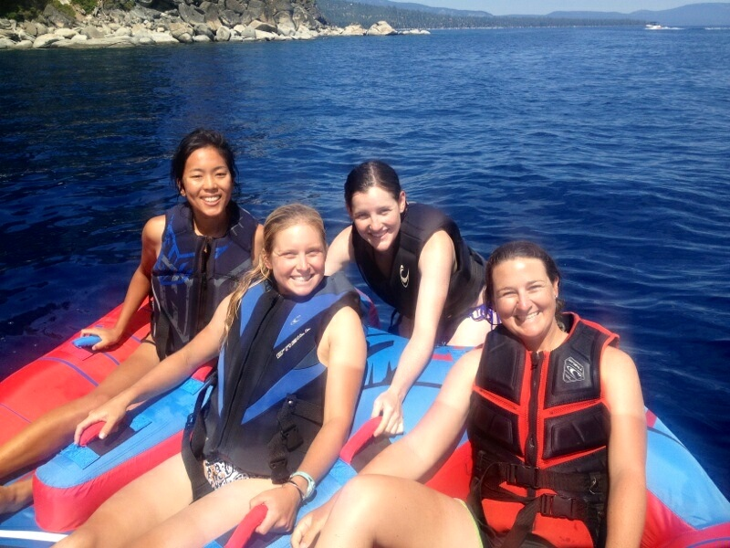 Beth, Emma, and Sarah and I in Tahoe!