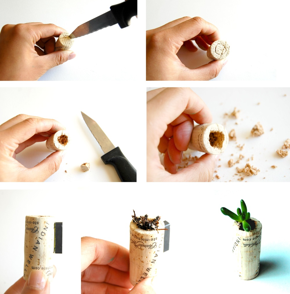 Cork Magnet Instructions
