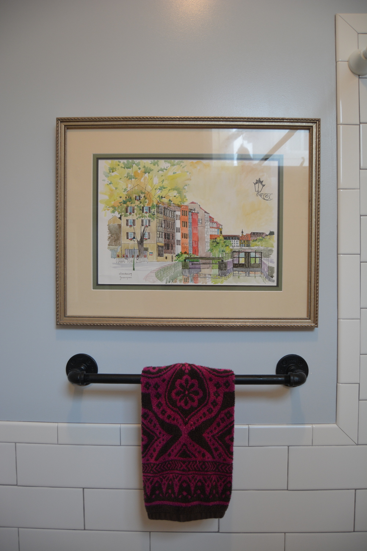 Rustic towel holder