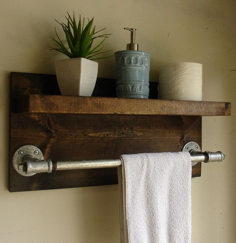 Rustic Modern DIY Pipe Towel Bar | RECESS