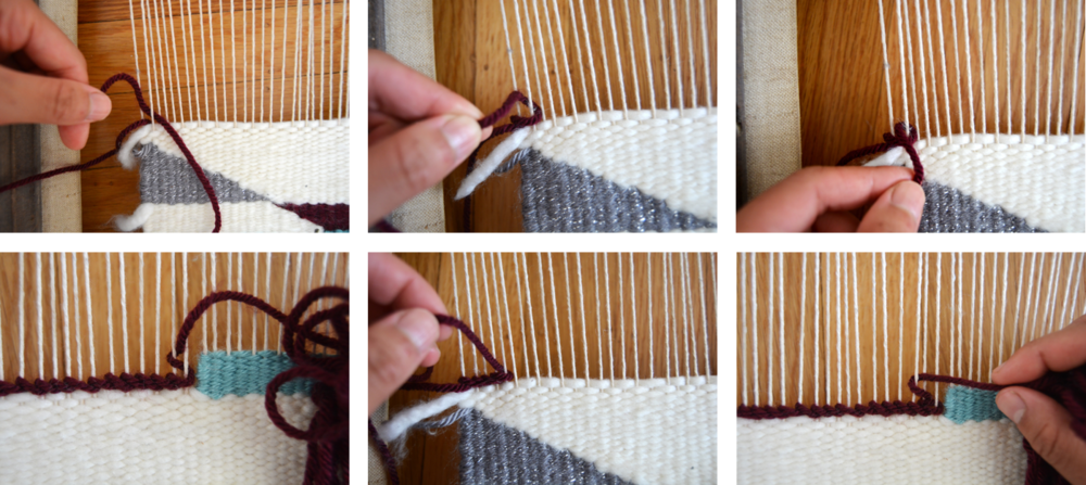 Woven Wall Hanging Tapestry - Braid Stitch