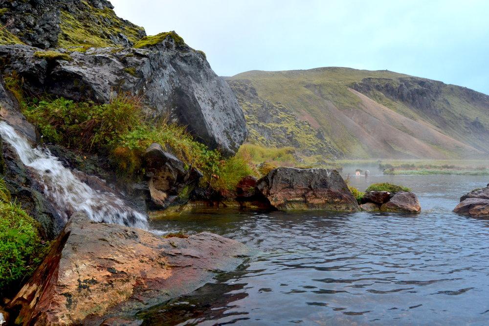The hot springs at Landmannalaugar