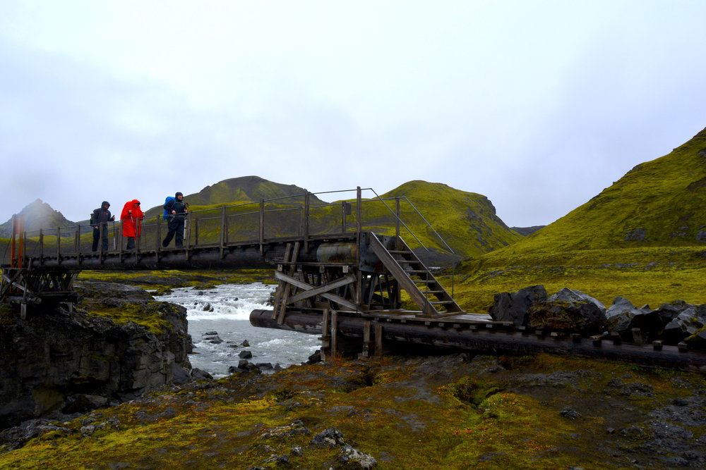 One of the somewhat questionable bridges we had to cross