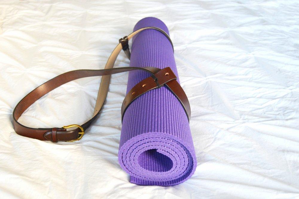 DIY Leather Yoga Mat Strap