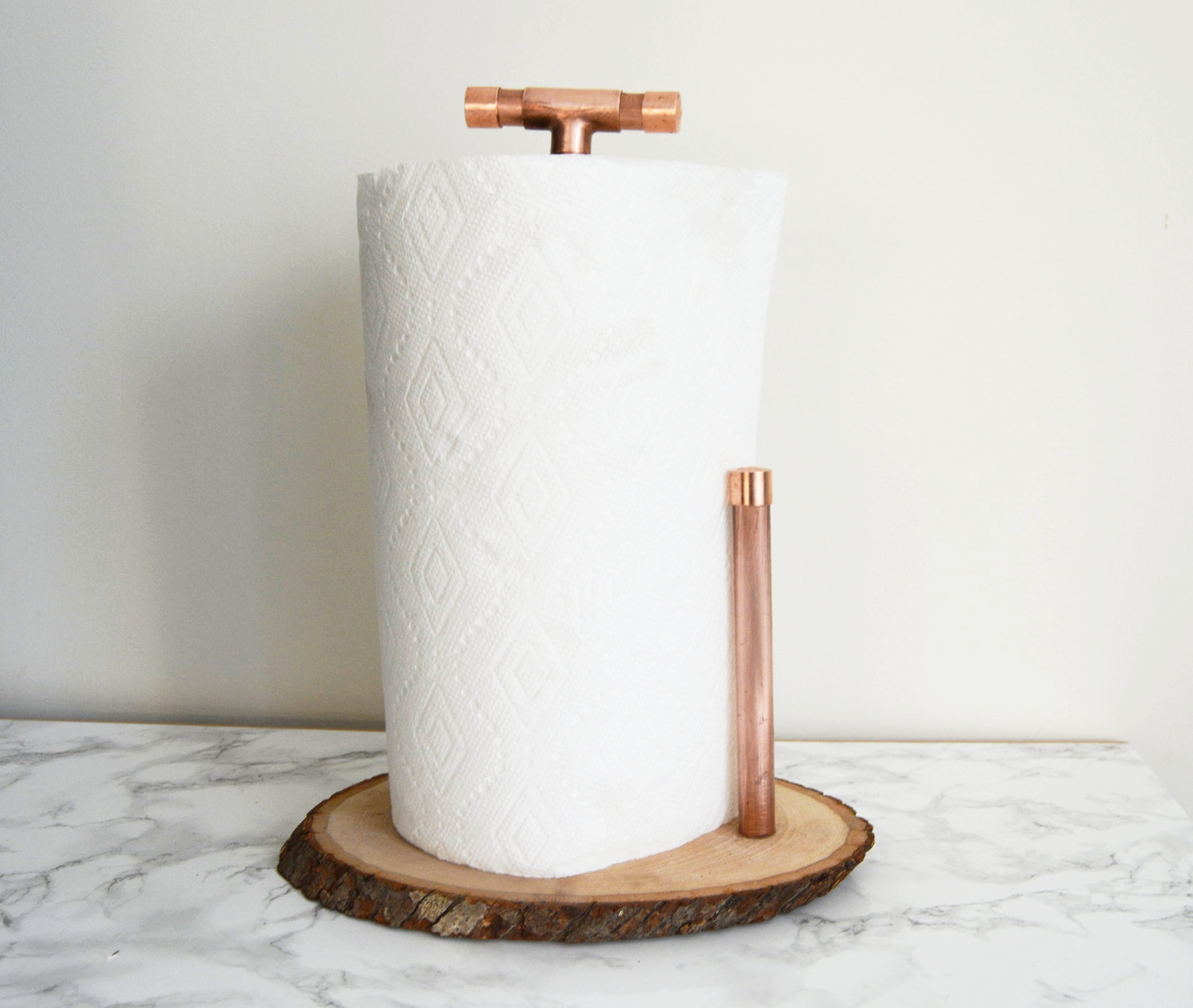 Diy Copper And Wood Paper Towel Holder Recess
